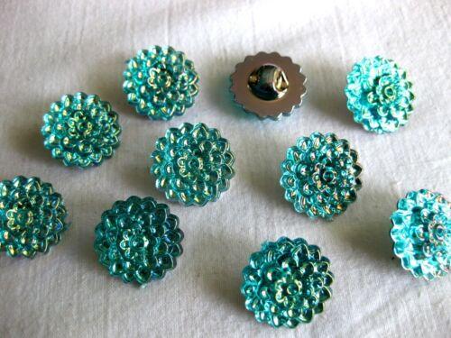 couleur au choix plastique K 60 10 boutons rond 20 mm coloré opalescente