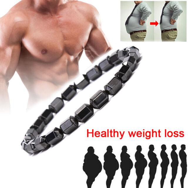 Natural Magnetic Hematite Black Beads Health Care Bracelet Bangles Men Jewelr I2