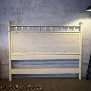 Vintage Chic Faux Bamboo King Size Bed Headboard Pressed