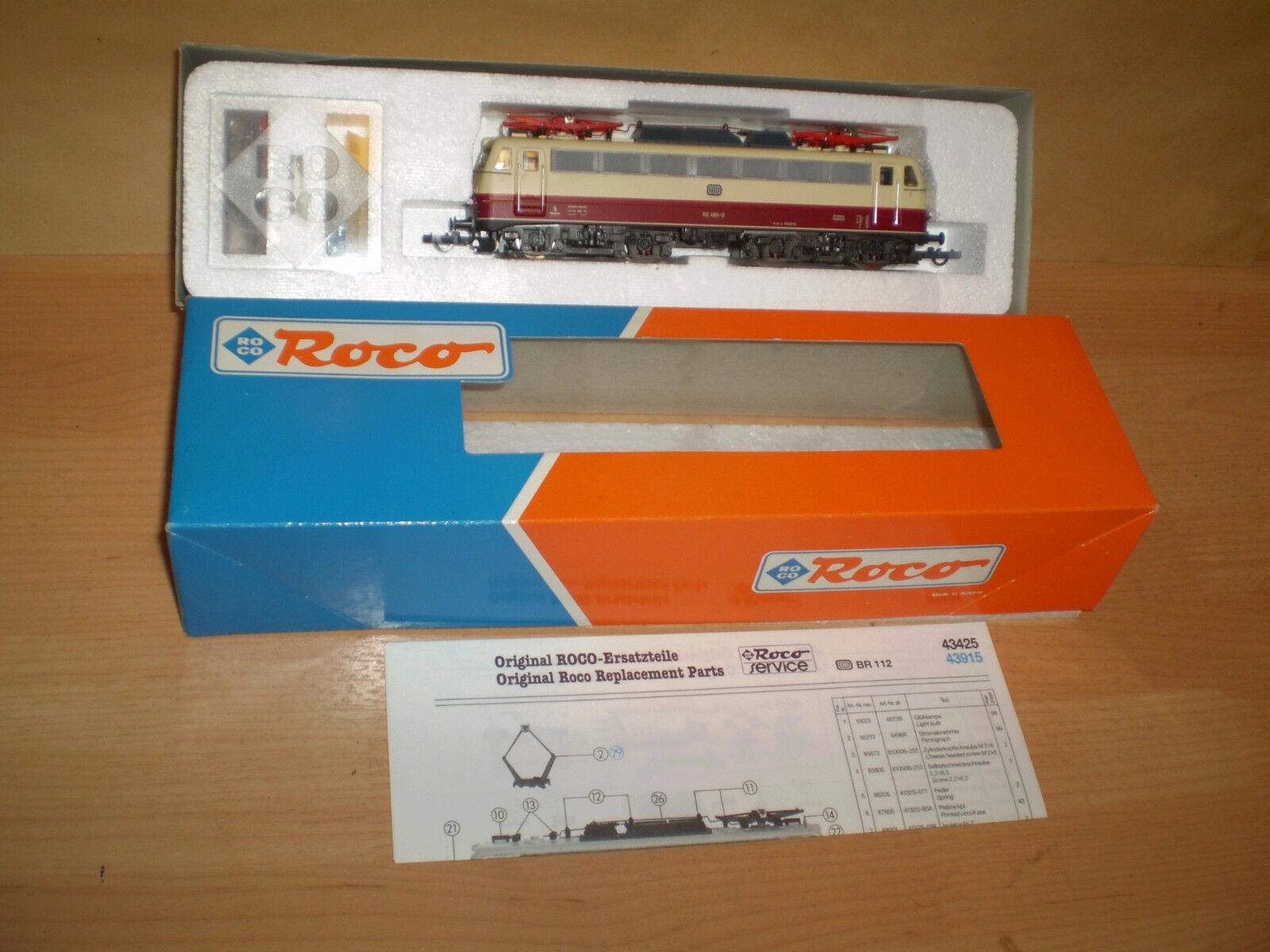 ,Roco 43425,E-Lok,DB BR 112,,Sp.H0,ovp,top
