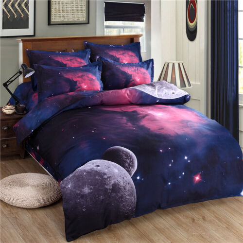 3D Galaxy Space Duvet Cover Twin Full Size Universe Outer Space Comforter Cover