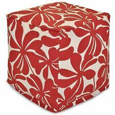 "Plantation Indoor Outdoor Bean Bag Footstool Ottoman Pouf Cube 17"" x 17"" x 17"""