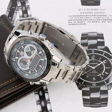 TVG Luxury Fashion LED Quartz Dial Men's Wrist Watch Steel Band KM579 New LE
