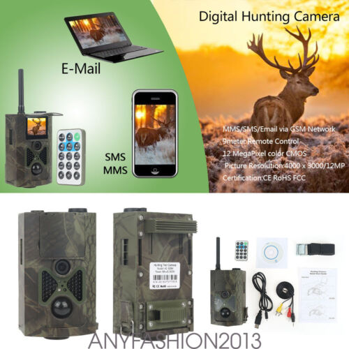 HC500m HD Wildlife Hunting Trail Digital Video Cameras 12MP GPRS IR Night Vision