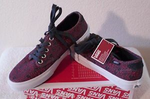 NIB Vans Camden Womens Skate Shoes Sneakers 6 Cheetah Navy/Coral MSRP