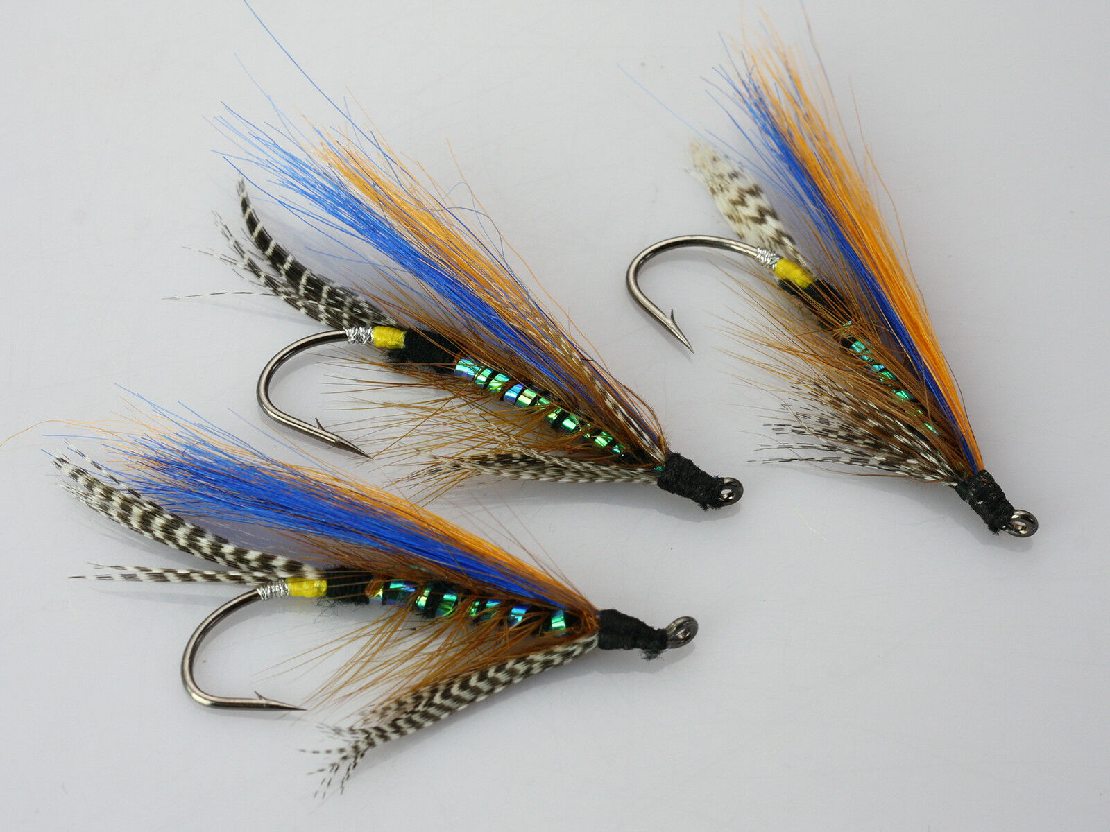 24 pcs Tube Flies Yellow Tail Black Beard Salmon And Sea Trout Fly Fishing Lures