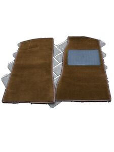 MGB-amp-MGC-NEW-PAIR-OF-FRONT-FOOTWELL-CARPETS-1968-On-Brown