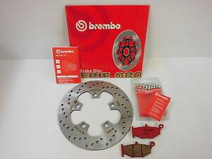 Brembo Bremsscheibe Bremse hinten + Sinter Bremsbeläge Suzuki GSX-R 600 750 1000