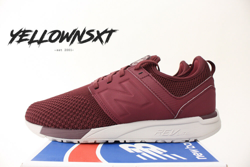 NEW BALANCE 247 SZ SZ SZ 10 BURGUNDY RED WHITE WINTER KNIT RUNNING SHOE MRL247WO 4c10c9