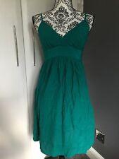 Women's Green Topshop Dress - Size 10