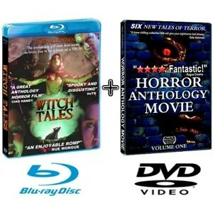 WITCH TALES 2020 Blu-ray HORROR Anthology BONUS DVD & TRIVIA CONTEST MOVIE PROPS