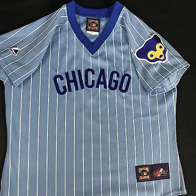 CHICAGO CUBS 1980's Majestic Cooperstown YOUTH Throwback Away Jersey Medium