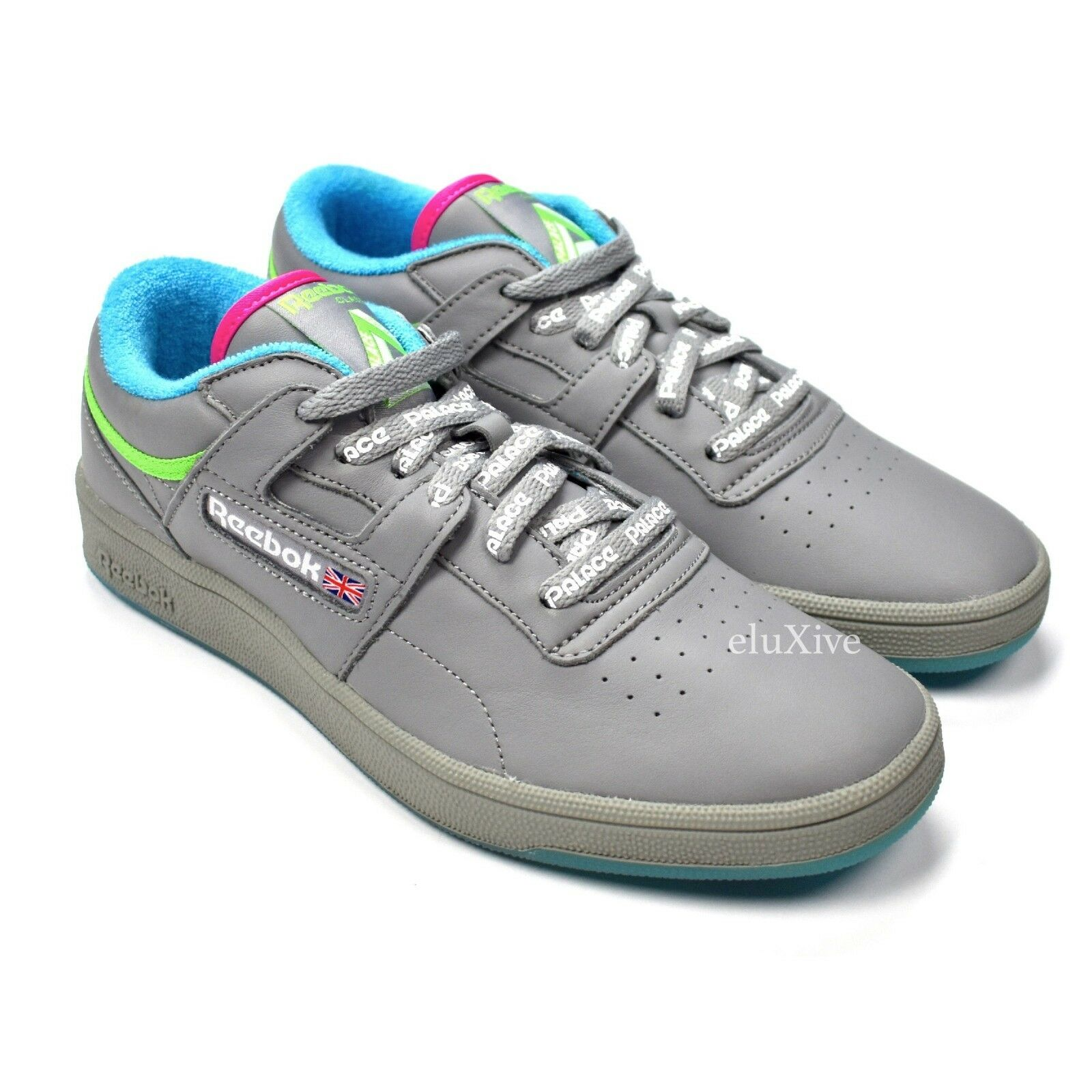 NWT Palace x Reebok Mens Club Workout Gray Leather Sneakers SS18 7.5 9 AUTHENTIC