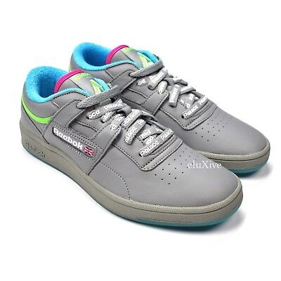 c945eeb813320 NWT Palace x Reebok Mens Club Workout Gray Leather Sneakers SS18 7.5 9  AUTHENTIC