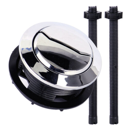 Chrom Doppel Druckknopf Toilette WC Wassertank Spülknopf Spülventil Push Button