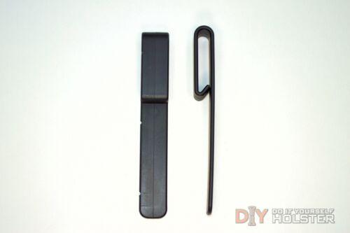 """2 Pack DIY Kydex Holster IWB Over Hooks Black 1.5/"""" Belts"""