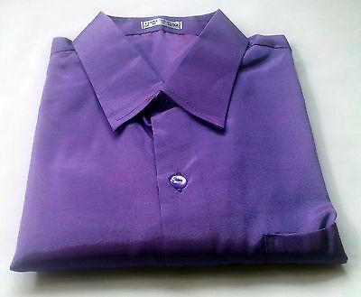 Mens Thai Silk Casual Dress Shirts  /S-XXXL /23 Colours / 6 Sizes / Long Sleeve