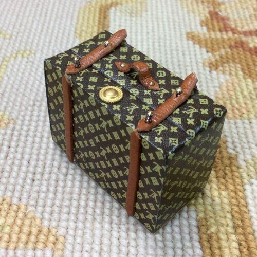 Pat Tyler Dollhouse Miniature Designer Bag Luggage Suitcase Medium Filled p587