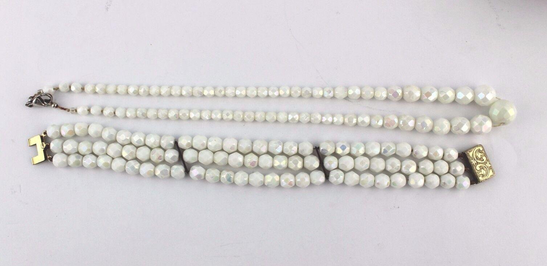 Set gioielli catena & bracciale necklace bracelet pietra di luna luna luna Multicolore f56ff1