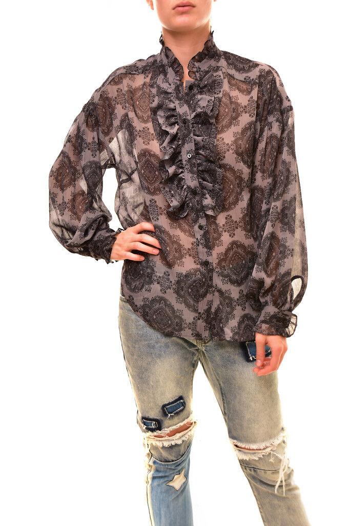 Stevie May Woherren Loose Long sleeve Sheer Top Multi Größe S RRP  BCF86