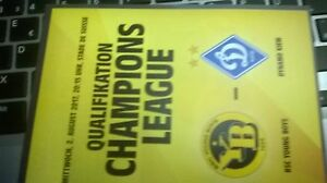 Official Programm Champions league Young Boys vs Dinamo Kiew 02.08.2017 - Deutschland - Official Programm Champions league Young Boys vs Dinamo Kiew 02.08.2017 - Deutschland