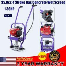 Power Screed 1 6 M Blade Gas 136hp 358cc Vibrating Concrete Finishing Tool Usa