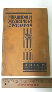 1934-BUICK-Original-Owners-Manual-Good-Condition-US