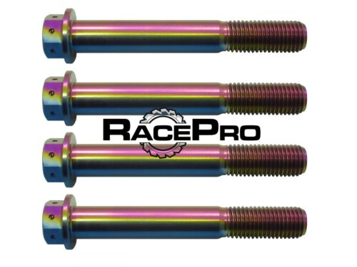Suzuki GSXR750 K5 4x RacePro Rainbow Race Drilled Titanium Caliper Bolt
