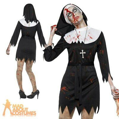 Ladies Nun Fancy Dress Costume Womens Sister Mary Outfit by Smiffys New