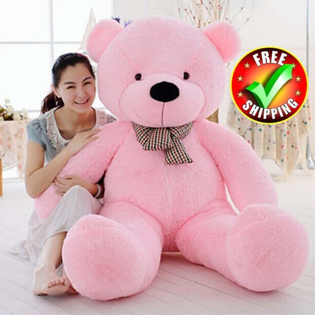 "Giant Teddy Bear Big Stuffed Plush Animal Toy Huge 63/"" Valentine Birthdays Gift"