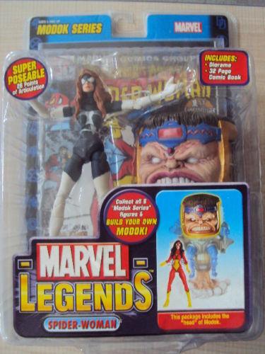 MARVEL LEGENDS SERIES 15 MODOK   SPIDER-WOMAN VARIANTE 2006 TOY BIZ NEUF