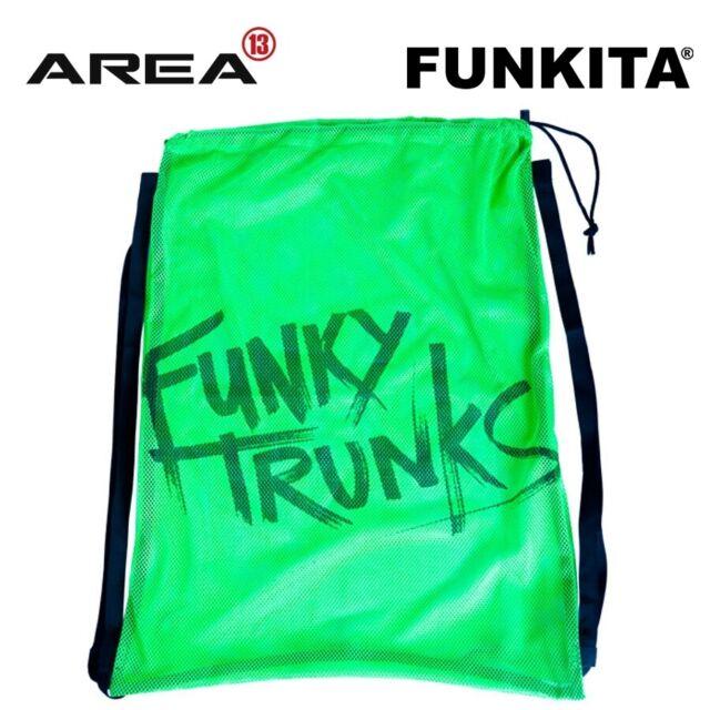 FUNKY TRUNKS STILL BRASIL MESH SWIM BAG, MESH SWIMMING BAG, TRAINING SWIM BAG