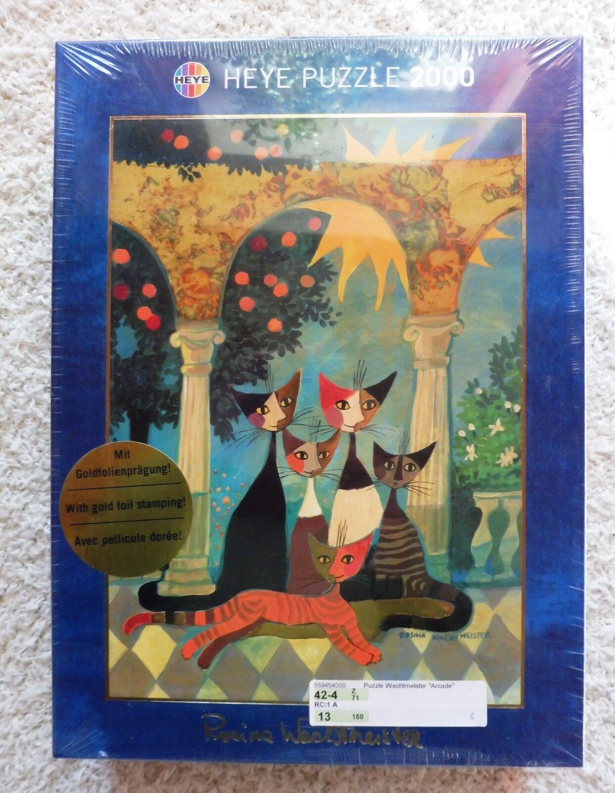 Puzzle R. Wachtmeister 2000 Arcade von Heye Neu Goldfolierprägung Rarität