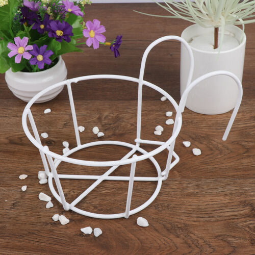Outdoor Hanging Plant Iron Rack Fence Balcony RoundFlower Pot Garden Supplies/_dr