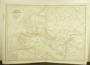 L'empire Romain à La Mort D'auguste Carte Ancienne 1838 Ancient Map 45cm 38cm Peut êTre à Plusieurs Reprises Replié.