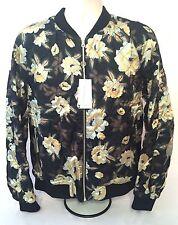 NWT $1.4K Dries Van Noten RUNWAY Black Quilted Reversible Floral Bomber Jacket