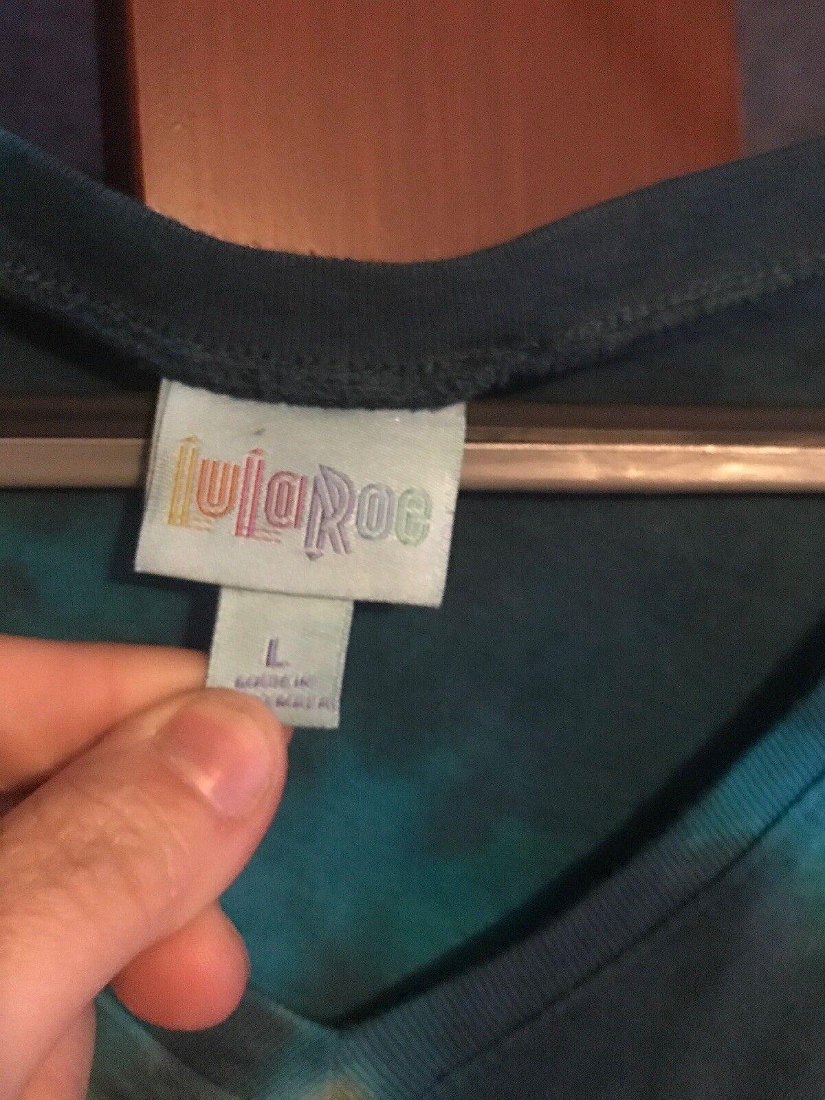 Lularoe Brown Teal Tie Dye Classic T Super Rare Large NWT Sale2nite