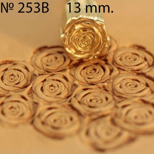 Leather stamp tool Rose flower for leather crafting crafts brass stamps  #253B