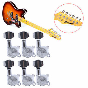 6 pcs chrome string guitar tuning pegs locking tuners keys machine heads set 664879128366 ebay. Black Bedroom Furniture Sets. Home Design Ideas