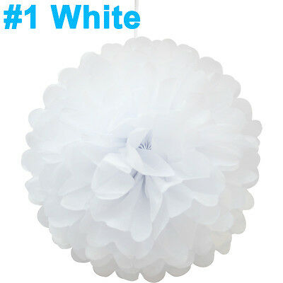 "8"" Tissue Paper Pompoms For Wedding Party Decorations"