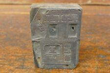 Vintage Antique Wood Burning Cook Stove Metal Wood Printers Block Printing Press