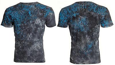 Archaic AFFLICTION Men T-Shirt ARTEMIS Lion Skull Tattoo Biker MMA UFC M-4XL $40