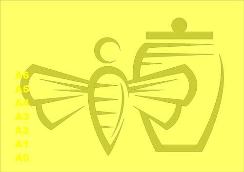 Honey Bee and Honey Pot Stencil 350 micron Mylar not thin stuff#Farm007
