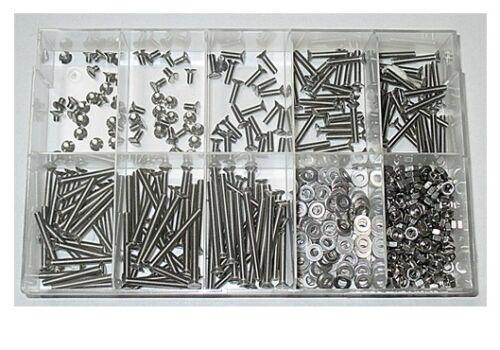 500 Teile Senkkopfschrauben Sortiment 2,5 mm DIN 963 M2,5 Edelstahl A2