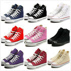 Hot Multi Colors Womens Sport Flat High Top Lace Up Canvas College Sneaker Shoes