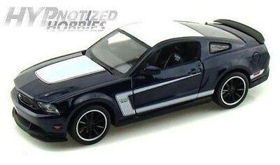 2012 FORD MUSTANG BOSS 302 MATT BLACK 1//24 SCALE DIECAST CAR MODEL MAISTO 31269