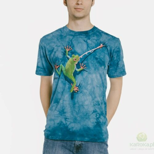 Frog Tongue The Mountain 100/% Cotton Adult Blue T-Shirt Sizes L-XL NWT