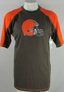 Cleveland-Browns-NFL-Men-039-s-Orange-Brown-Three-Quarter-Sleeve-T-Shirt