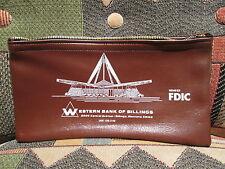 WESTERN BANK of BILLINGS, MONTANA - vintage zippered vinyl bank