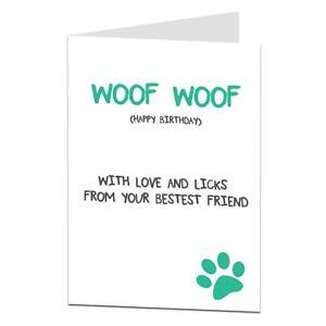 Details About Happy Birthday Card From The Dog Lover Owner Husband Wife Mum Dad Funny Joke